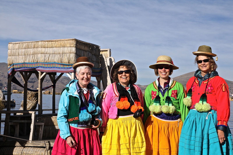 Tourists in Uros