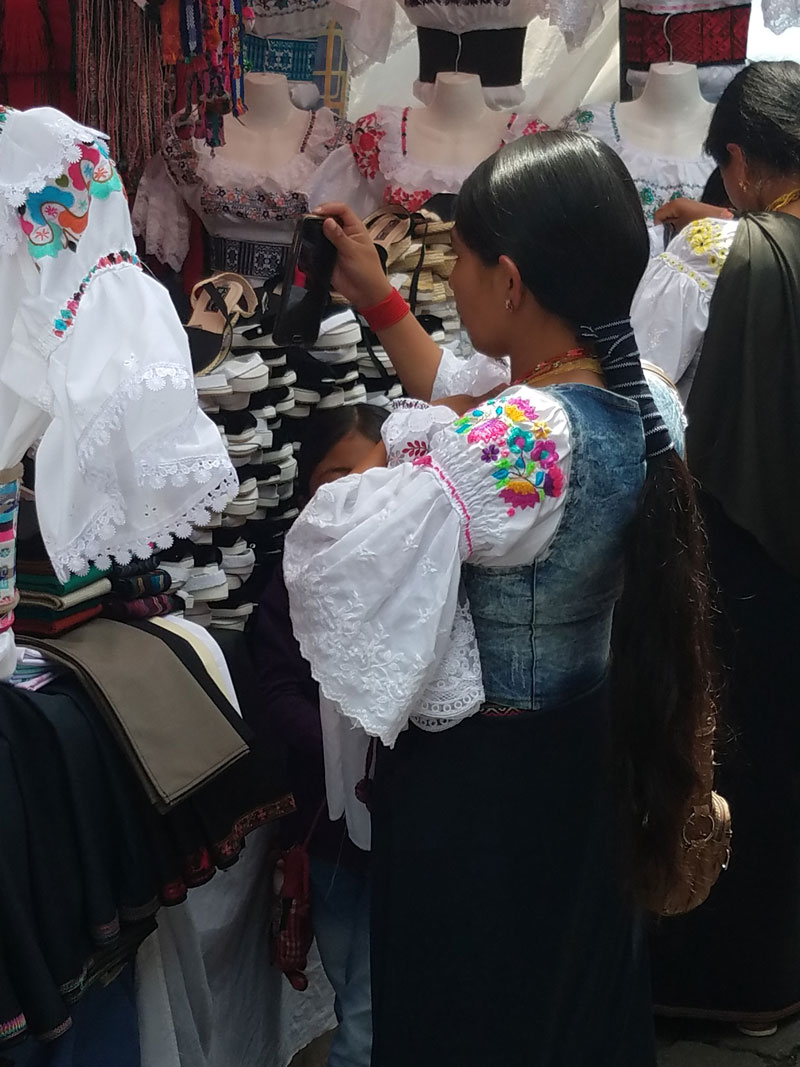 Indigenous Otavaleña Woman