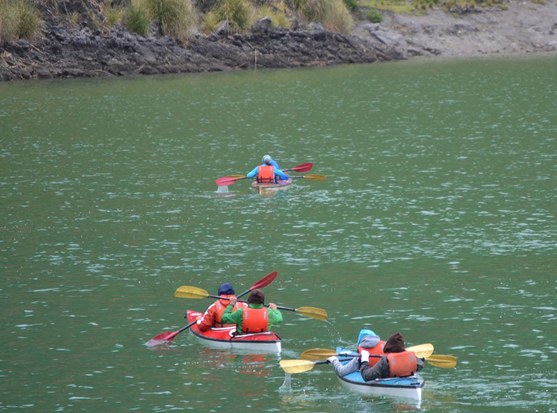 Kayaking in Quilotoa