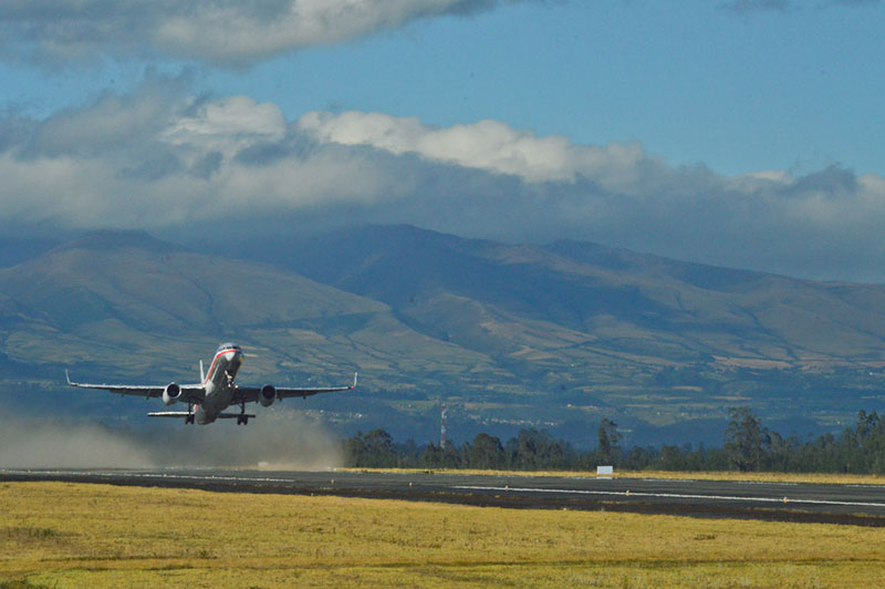 Landing in Quito Ecuador