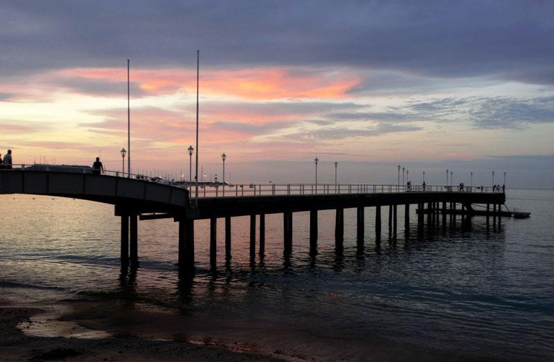 Salinas Pier Ecuador Coast